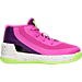 Right view of Girls' Toddler Under Armour Curry 3 Basketball Shoes in Lunar Pink/Purple Light/Limelight