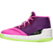Left view of Girls' Toddler Under Armour Curry 3 Basketball Shoes in Lunar Pink/Purple Light/Limelight