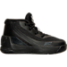 Right view of Boys' Toddler Under Armour Curry 3 Basketball Shoes in Black/Black/Black