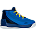 Right view of Boys' Toddler Under Armour Curry 3 Basketball Shoes in Team Royal/Caspian/Taxi