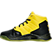 Left view of Boys' Preschool Under Armour Curry 2.5 Basketball Shoes in Black/Taxi