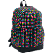 Front view of Girls' Under Armour Favorite Backpack in Black/Harmony Red Dot Print