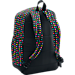 Back view of Girls' Under Armour Favorite Backpack in Black/Harmony Red Dot Print