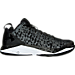 Right view of Men's Under Armour Fire Shot Low Basketball Shoes in Black/White