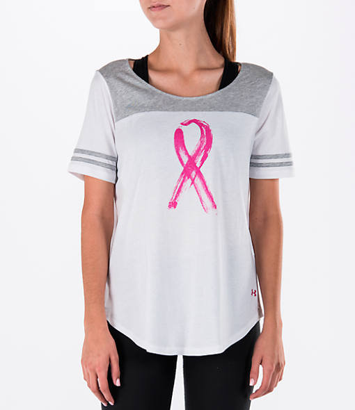 Women's Under Armour Power In Pink Baseball T-Shirt