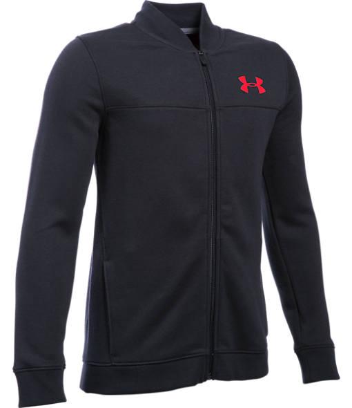 Boys' Under Armour Sportstyle Fleece Bomber Jacket
