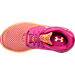 Top view of Girls' Preschool Under Armour Flow Running Shoes in Lunar Pink/Glow Orange