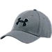 Front view of Under Armour Blitzing II Heather Stretch Fit Hat in 035