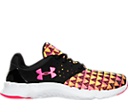 Girls' Grade School Under Armour Flow Run KO Print Running Shoes