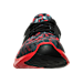 Front view of Boys' Grade School Under Armour Flow Digi Camo Running Shoes in Black/Red/Steel/Graphite