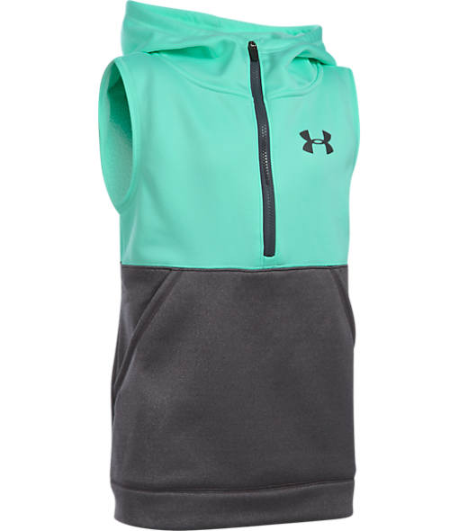 Girls' Under Armour Fleece Half-Zip Vest