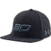 Front view of Men's Under Armour SC30 Core Snapback Hat in Black/Steel