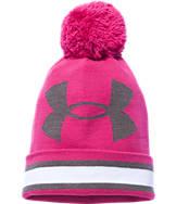 Women's Under Armour Power In Pink Pom Beanie Hat