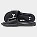 Right view of Men's Under Armour Ignite V Slide Sandals in Black/White