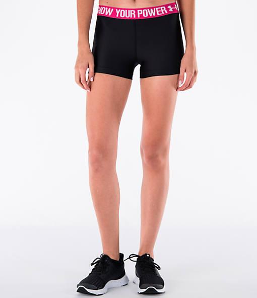 Women's Under Armour Power In Pink HeatGear 3 Inch Shorts