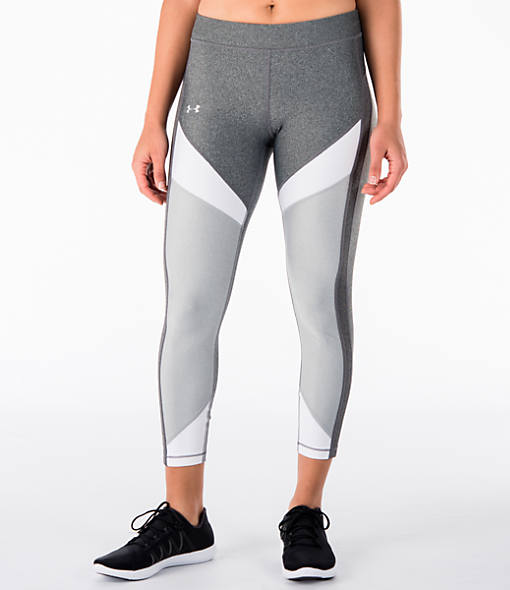 Women's Under Armour HeatGear Color Blocked Ankle Crop Training Capris