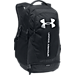 Front view of Under Armour Hustle 3.0 Backpack in Black/White