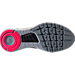 Bottom view of Women's Under Armour Highlight Delta 2 Running Shoes in Black/Pink/Grey