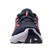 Front view of Women's Under Armour Thrill 3 Running Shoes in Apollo Grey/Pink