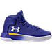 Right view of Boys' Preschool Under Armour Curry 3Zero Basketball Shoes in Team Royal/White