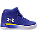 Right view of Boys' Toddler Under Armour Curry 3Zero Basketball Shoes in Team Royal/White