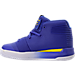 Left view of Boys' Toddler Under Armour Curry 3Zero Basketball Shoes in Team Royal/White