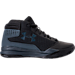 Right view of Boys' Grade School Under Armour Jet 2017 Basketball Shoes in Black/Rhino Grey/Black