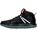 Left view of Men's Under Armour Fat Tire Mid Hiking Boots in Black/White/Red