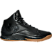 Right view of Men's Under Armour Curry 1 Lux Mid Leather Off-Court Shoes in Black/Black/Black