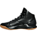 Left view of Men's Under Armour Curry 1 Lux Mid Leather Off-Court Shoes in Black/Black/Black