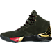 Left view of Men's Under Armour Curry 1 Luxury Mid Suede Off-Court Shoes in Green/Gold/Red