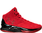 Men's Under Armour Curry 1 Lux Mid Suede Basketball Shoes