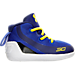 Right view of Infant Under Armour Curry 3 Crib Basketball Shoes in Team Royal/Caspian/Taxi
