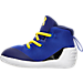 Left view of Infant Under Armour Curry 3 Crib Basketball Shoes in Team Royal/Caspian/Taxi