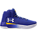 Right view of Men's Under Armour Curry 3Zero Basketball Shoes in Team Royal/White
