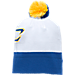 Alternate view of Men's Under Armour SC30 Pom Beanie Hat in White/Taxi/Royal