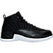 Right view of Men's Air Jordan Retro 12 Basketball Shoes in Black/Gym Red/White