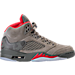 Right view of Men's Air Jordan Retro 5 Basketball Shoes in Dark Stucco/University Red/River Rock