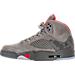 Left view of Men's Air Jordan Retro 5 Basketball Shoes in Dark Stucco/University Red/River Rock