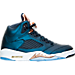 Right view of Men's Air Jordan Retro 5 Basketball Shoes in Obsidian/White/Metallic Red Bronze