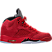 Right view of Men's Air Jordan Retro 5 Basketball Shoes in University Red/Black