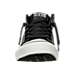 Front view of Men's Converse Chuck Taylor All Star Street Mid Leather Casual Shoes in Black/White