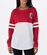 Women's J. America Ohio State Buckeyes College Cheer Long-Sleeve Shirt