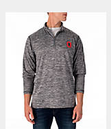 Men's J. America Ohio State Buckeyes College Space Dye Quarter-Zip Shirt