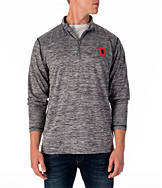 Men's J. America Ohio State Buckeyes College Space Dye Quarter-Zip Shirt