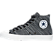 Left view of Men's Converse Chuck Taylor All Star II Knit Canvas High Casual Shoes in BLK