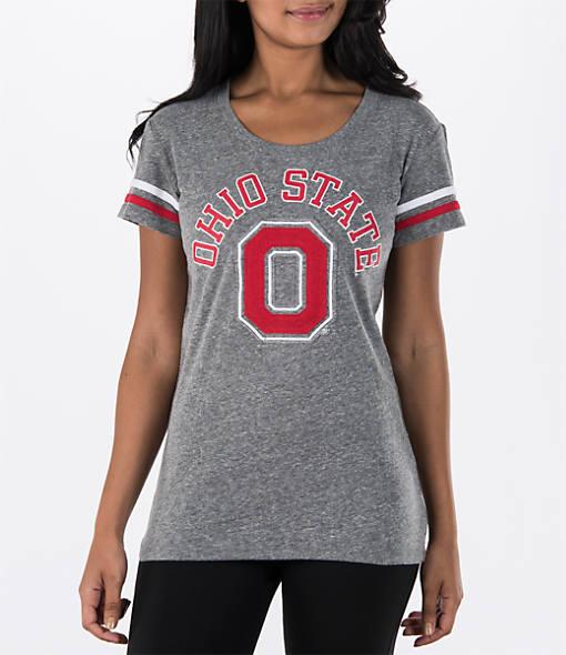 Women's J. America Ohio State Buckeyes College Powder Puff T-Shirt