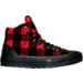 Right view of Men's Chuck Taylor All-Star Street Woolrich Hiker Boots in Red Plaid/Black