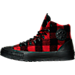Left view of Men's Chuck Taylor All-Star Street Woolrich Hiker Boots in Red Plaid/Black