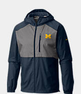 Men's Columbia Michigan Wolverines College Flash Forward Windbreaker Jacket